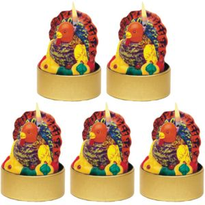 Turkey Tealight Candles 5ct