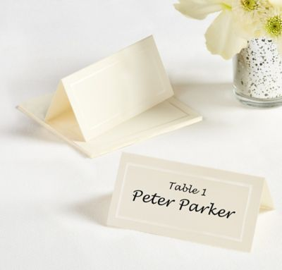 Ivory Printable Place Cards 12ct
