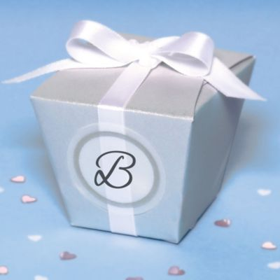 Silver Elegant Box Wedding Favor Kit