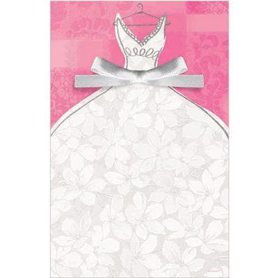 Bridal Gown Printable Bridal Shower Invitations 12ct