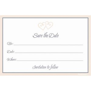 Save the Date Invitations 25ct
