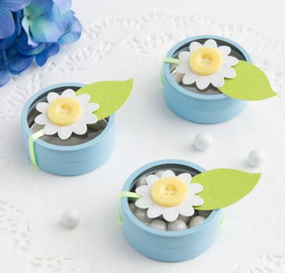 Blue Tin Baby Shower Favor Kit 24ct
