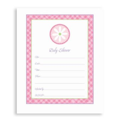 Pink Baby Shower Invitation Value Pack 20ct