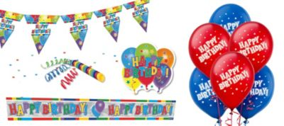 Happy Birthday Room Decorating Kit 11pc