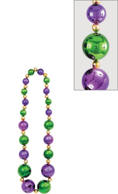 Giant Mardi Gras Bead Necklace