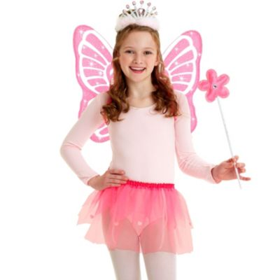 Child Pink Sparkle Fairy Accessory Kit
