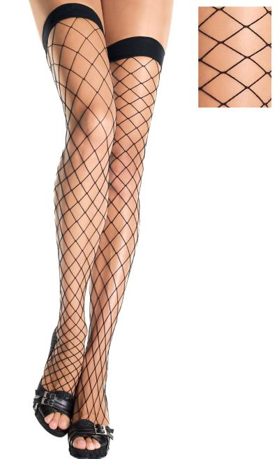 Adult Fence Net Thigh High Stockings