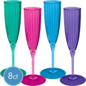 Jewel Tone New Years Champagne Flutes