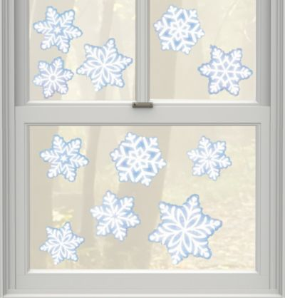 Snowflake Window Cling Decals 11ct