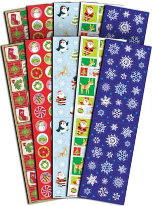 Christmas Stickers 10 Sheets