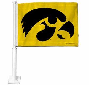Iowa Hawkeyes Car Flag
