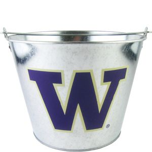 Washington Huskies Galvanized Bucket