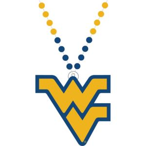 West Virginia Mountaineers Pendant Bead Necklace