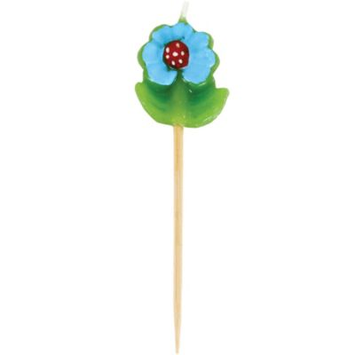 Blue Daisy Candle Pick