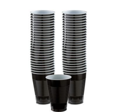 BOGO Black Plastic Cups 12oz 50ct