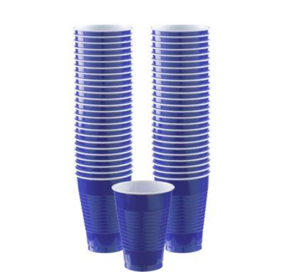 BOGO Royal Blue Plastic Cups 12oz 50ct