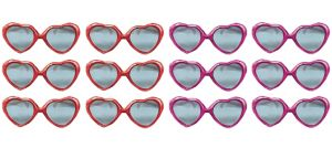 Glitter Heart Valentine Sunglasses 12ct