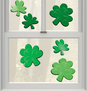 St. Patrick's Day Gel Cling Decals 6ct
