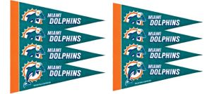 Miami Dolphins Pennants 8ct