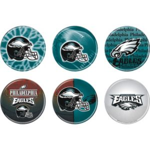 Philadelphia Eagles Buttons 6ct