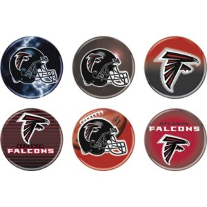 Atlanta Falcons Buttons 6ct
