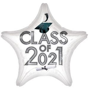 White Graduation Balloon - Star Class of 2016