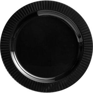 Black Premium Plastic Dinner Plates 16ct