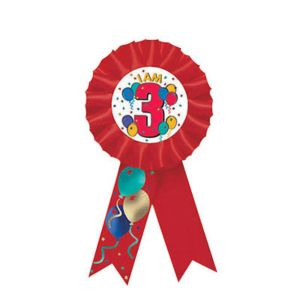 I Am 3 Birthday Award Ribbon