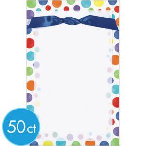 Colorful Dots Printable Invitation Kit 50ct