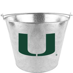 Miami Hurricanes Galvanized Bucket