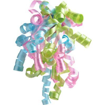 Azalea/Baby Blue/Celery Curly Bow