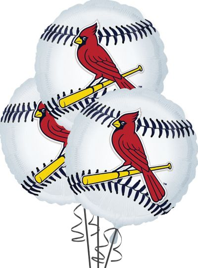 St. Louis Cardinals Balloons 18in 3ct