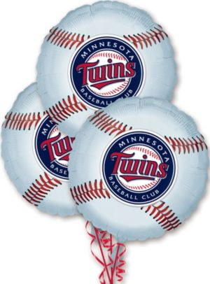 Minnesota Twins Balloons 3ct - Baseball