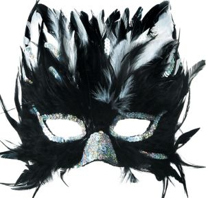 Feather Cat Masquerade Mask