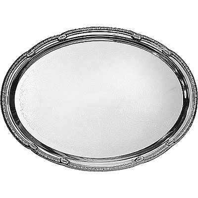 Chrome Oval Platter
