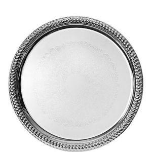 Chrome Braided Edge Platter