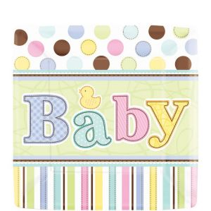 Tiny Bundle Baby Shower Dessert Plates 18ct