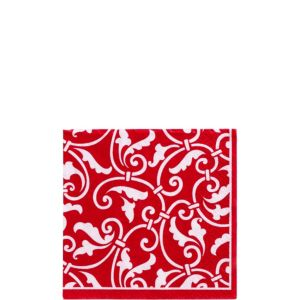 Red Ornamental Scroll Beverage Napkins 16ct