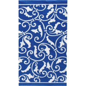 Royal Blue Ornamental Scroll Guest Towels 16ct
