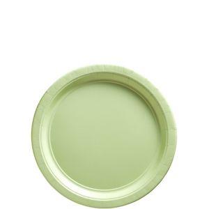 Leaf Green Paper Dessert Plates 20ct