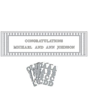 Personalized Giant Sign Wedding Banner 65in x 20in