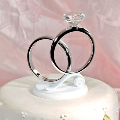 Two Rings Wedding Cake Topper