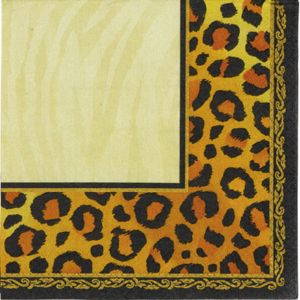 Leopard Print Lunch Napkins 16ct