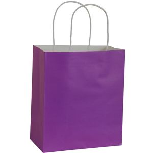 Large Purple Kraft Gift Bag