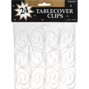 CLEAR Table Cover Clips 24ct