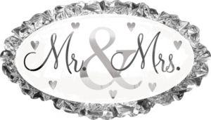 Wedding Balloon - Mr. & Mrs.