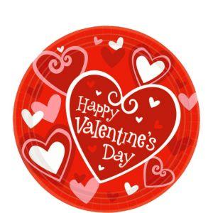 Be Mine Valentine's Day Dessert Plates 8ct