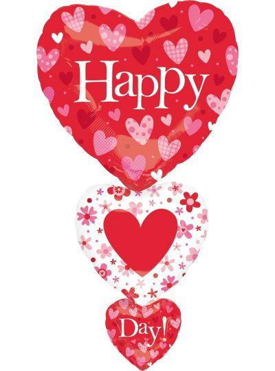 Valentine's Day Balloon - Heart Stack