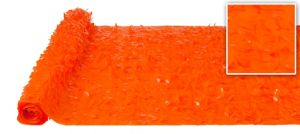 Orange Vinyl Floral Sheeting