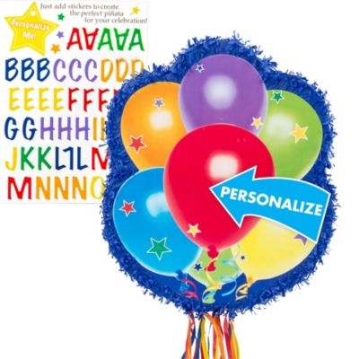 Pull String Personalized Balloons Pinata